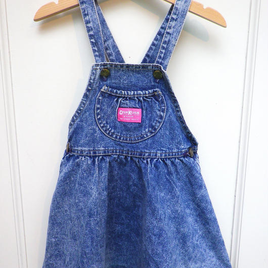 "【USED】""OSHKOSH"" Denim Flare Dress (Made in U.S.A)"
