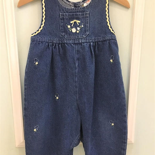 "【USED】""Fisher & Price"" Denim Rompers"