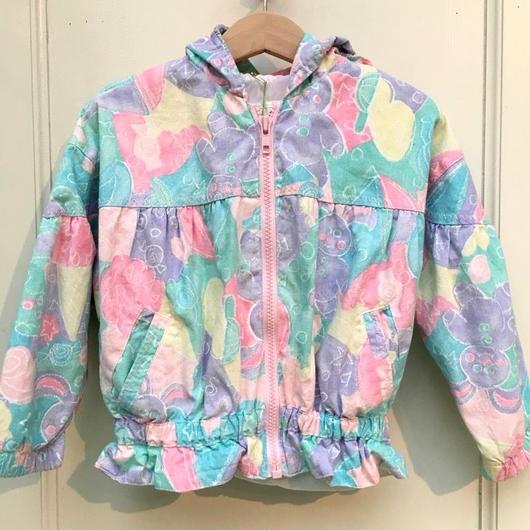 【USED】Pastel Hem gather print jacket