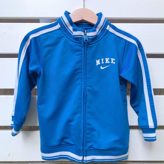 "【USED】""NIKE""  blue×white track top"