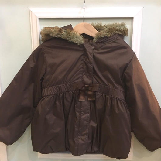 【USED】Waist gathered Brown coat