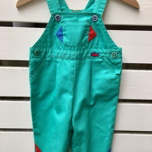 "【USED】""LACOSTE"" mint green Overall"