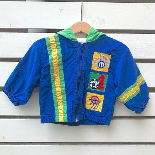 286.【USED】Blue Sports Nylon Jacket