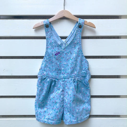 "5.【USED】""OSHKOSH""Print denim short overall(Made in U.S.A.)"