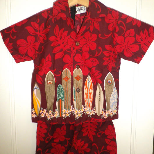 【USED】Hawaiian Shirts & Pants Set Up (Made in U.S.A.)