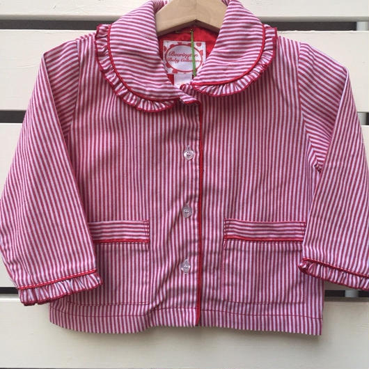 【USED】Red Stripe Blouse