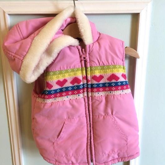【USED】Pink Hoodie Vest