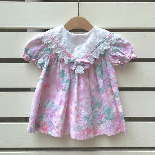 【USED】Pink flower ribbon Dress