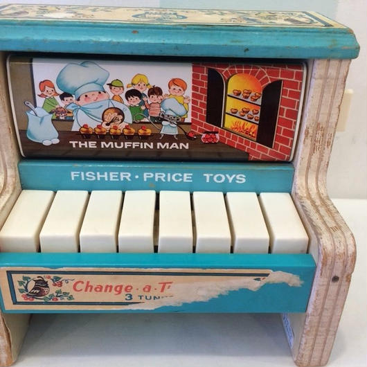 """【USED】Vintage """"Fisher-price"""" Change a Tune Piano(Made in U.S.A.)"""