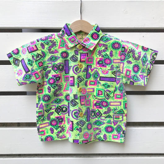 【USED】Neon color design shirts