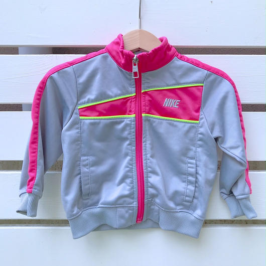 "【USED】""NIKE""  Gray×pink track top"