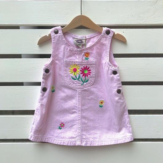 【USED】 Flower motive Jumper skirt