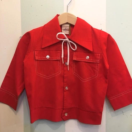 90.【USED】Vintage Fake Red Double pocket Jacket