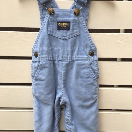 """【USED】""""OSHKOSH"""" pastel blue corduroy overall ( made in U.S.A.)"""