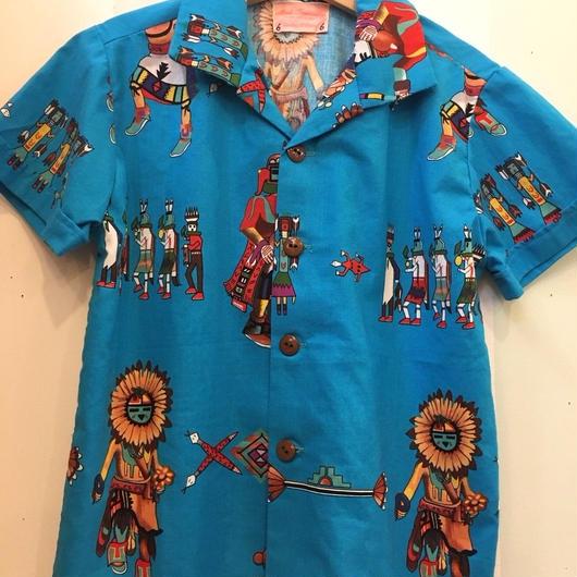 【USED】Ethnic motif Hawaiian shirts