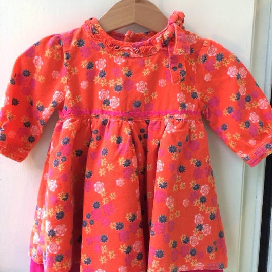 【USED】Orange x Pink dress