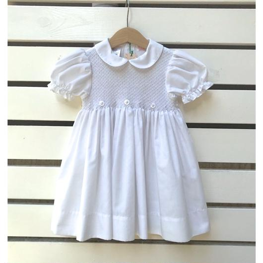 【USED】White puff sleeve Dress