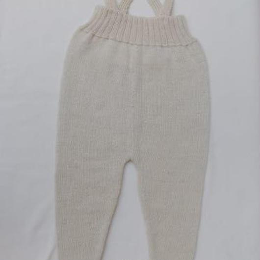 □【oeuf】Footie Suspender Pants /light grey monster