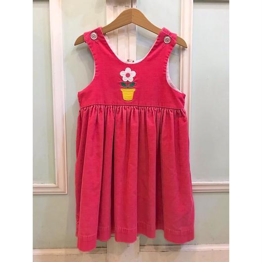 310.【USED】Pink Flower Dress