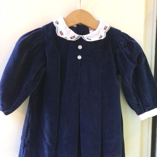 【USED】Navy velvet dress