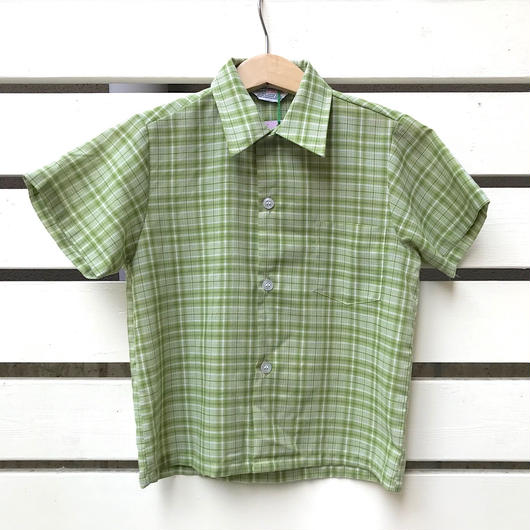【USED】 60's Vintage 'sears' green shirts