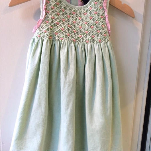 "【USED】""Ralph Lauren"" Pink & Green Dress"