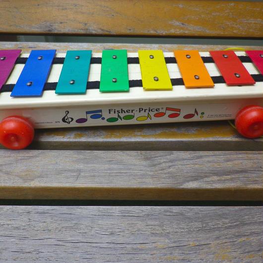 "【USED】85's Vintage ""Fisher Price"" Glockenspiel"
