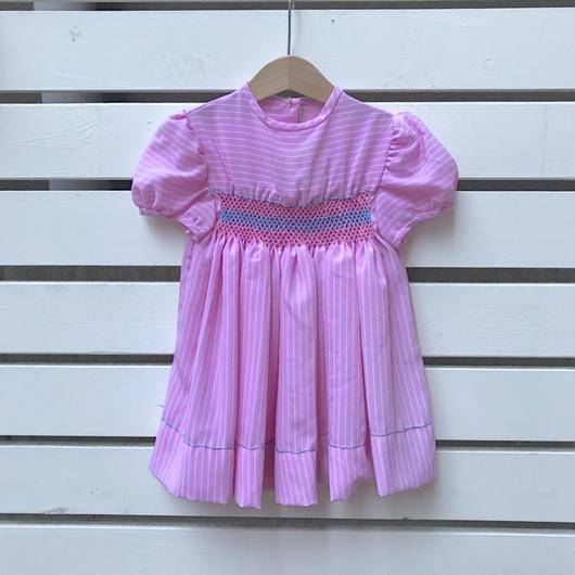USED】Pink puff sleeve Dress