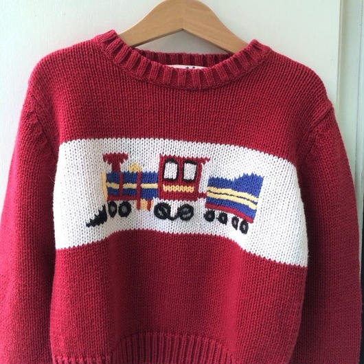 【USED】Train motif knit sweater