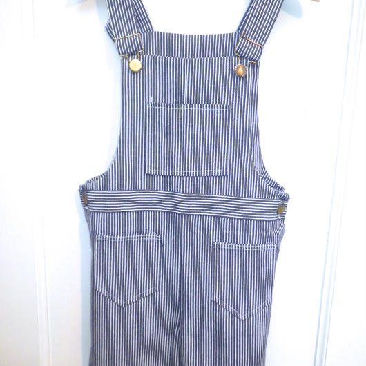 【USED】Vintage Health-tex Hickory Stripe Short Overall( Made in U.S.A.)