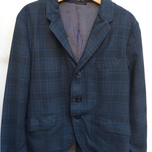 【USED】Vintage check print formal jacket