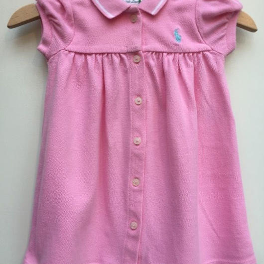 "【USED】""Ralph Lauren"" Baby pink dress"