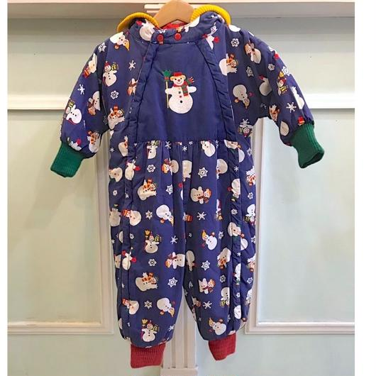 375.【USED】Blue Snowman OuterRompers