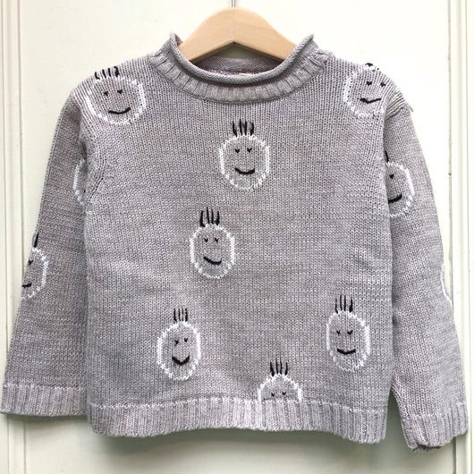 【USED】Funny face knit sweater