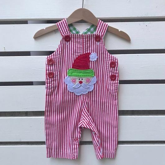 343.【USED】Santa Claus Stripe Overall