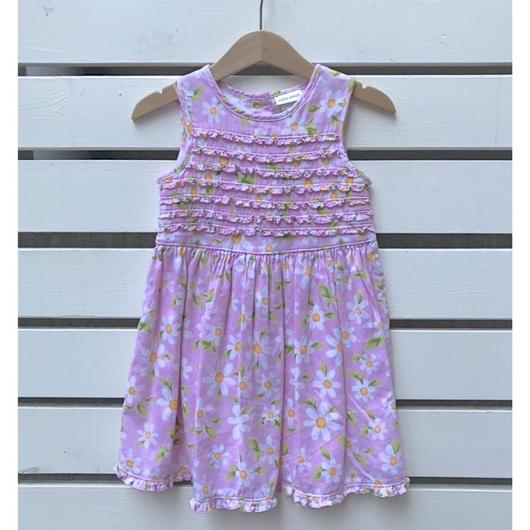 【USED】Pink flower frill Dress