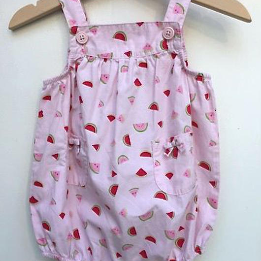 【USED】Pink Watermelon Rompers