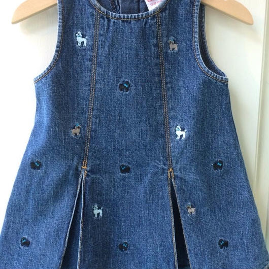 "【USED】""GYMBOREE"" Poodle Denim dress"