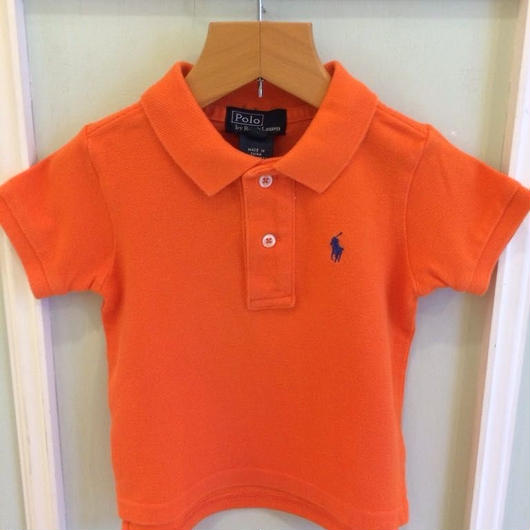 "【USED】""Ralph Lauren"" Orange polo"