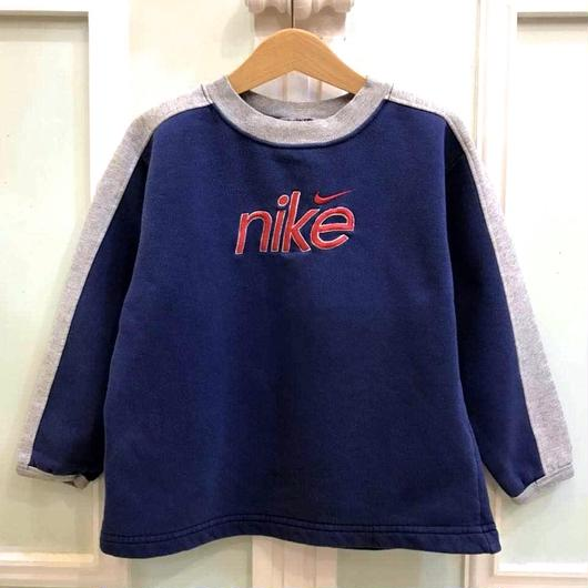 "【USED】""NIKE"" blue×gray sweatshirt"