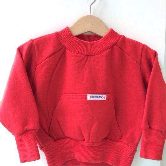 "【USED】""Health-tex"" Red Sweater (Made in U.S.A.)"