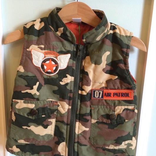 【USED】Camouflage print Vest