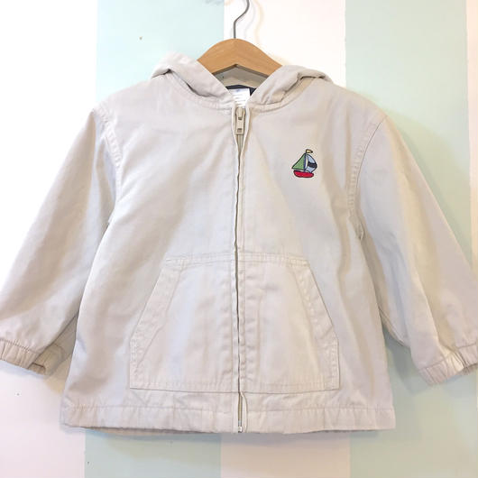 "【USED】""GYMBOREE"" Yacht motif beige zip up Jacket"