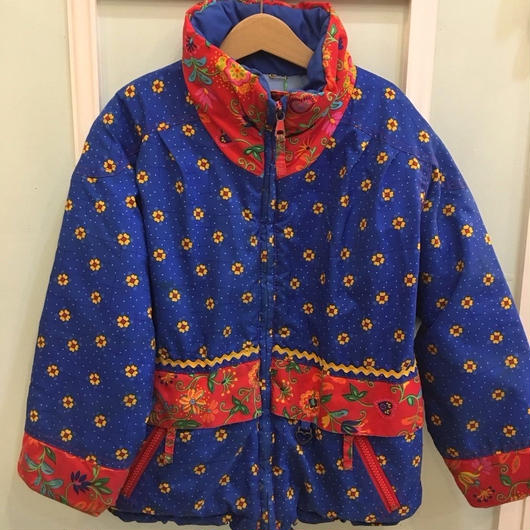 【USED】Flower print  High neck Outer