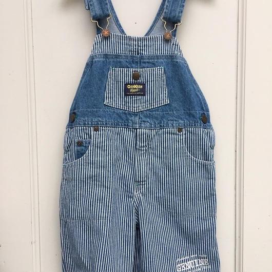 "94.【USED】""OSHKOSH"" Hickory Stripe Short Overall"