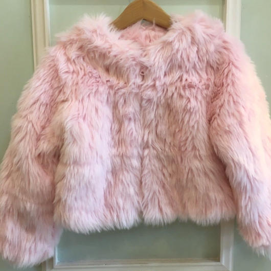 【USED】Pink Fur Boa Short Outer