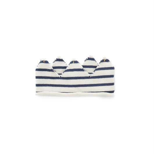 233.【ouef】CROWN / white×dark navy stripes