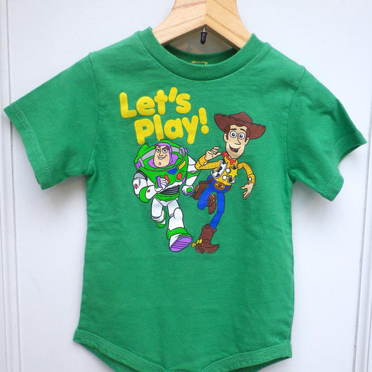 """【USED】""""TOY STORY"""" Green Rompers"""
