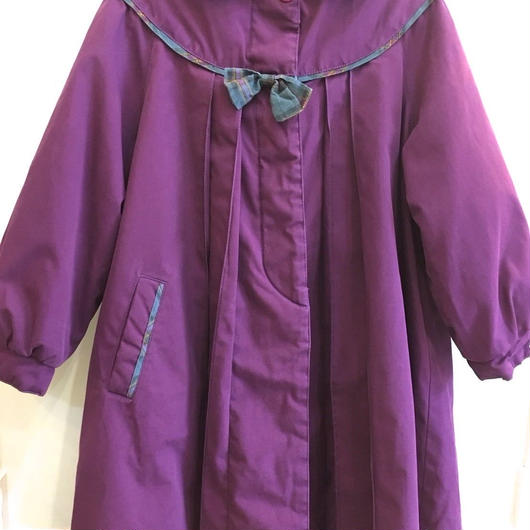 【USED】Purple long coat with liner
