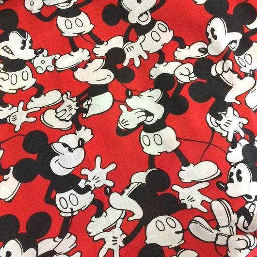 【USED】Mickeys Bed sheet (Made in U.S.A.)